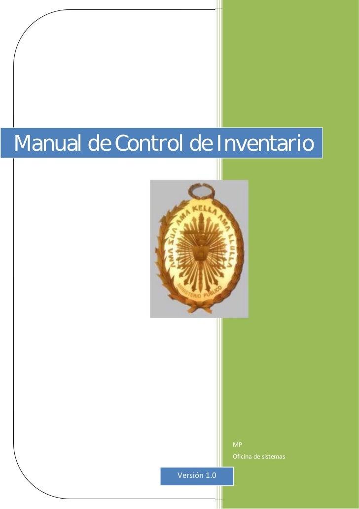 Manual de control de inventario