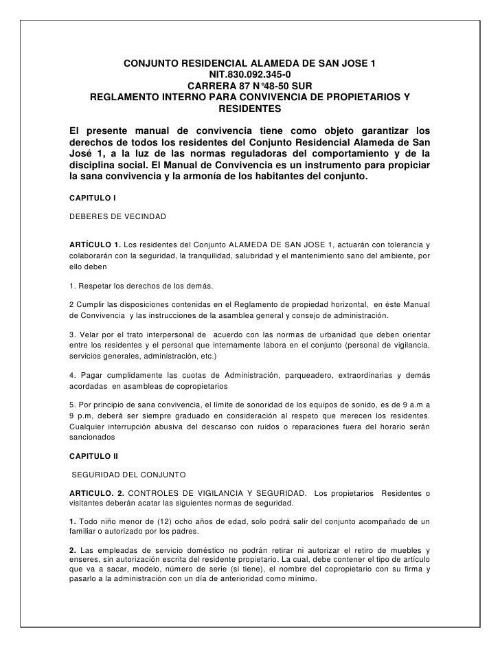 CONJUNTO RESIDENCIAL ALAMEDA DE SAN JOSE 1                        NIT.830.092.345-0                    CARRERA 87 N°48-50 ...