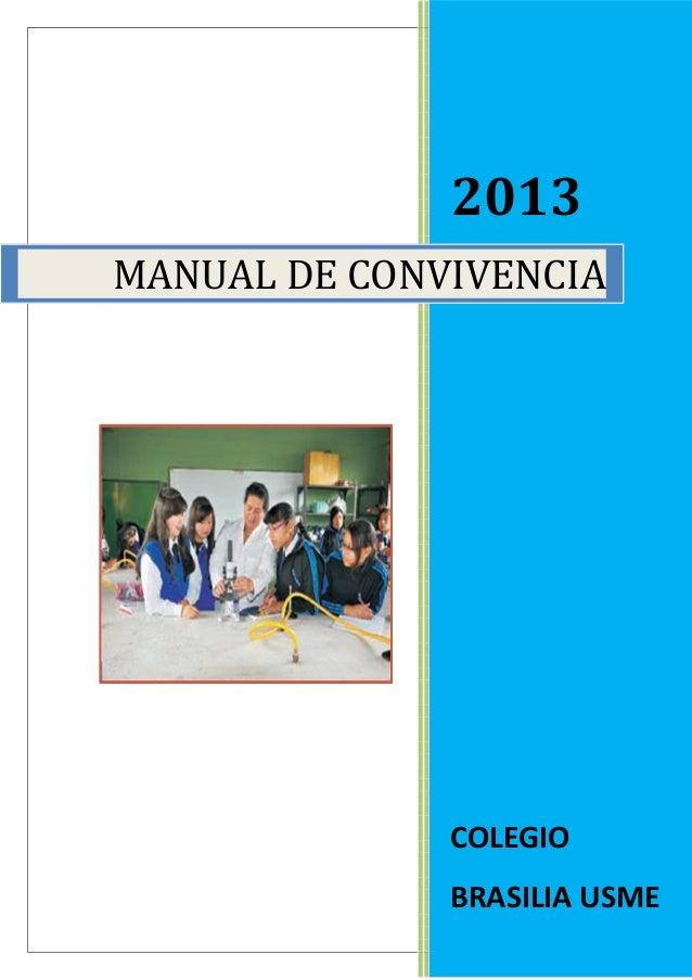 2013  MANUAL DE CONVIVENCIA  COLEGIO  BRASILIA USME  34