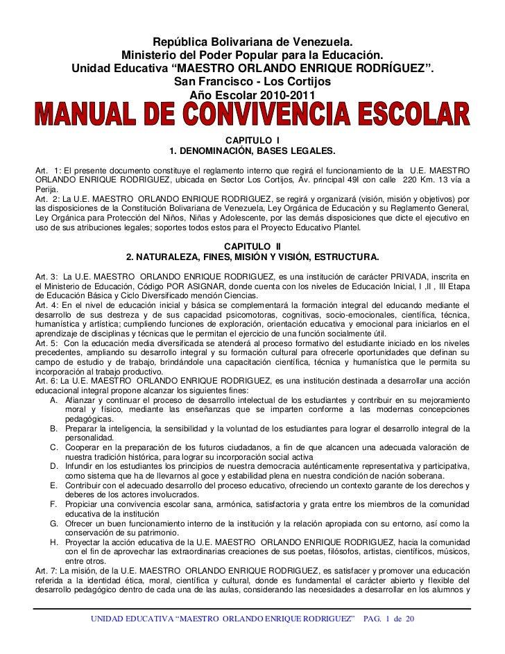 """República Bolivariana de Venezuela.<br />Ministerio del Poder Popular para la Educación.<br />Unidad Educativa """"MAESTRO OR..."""