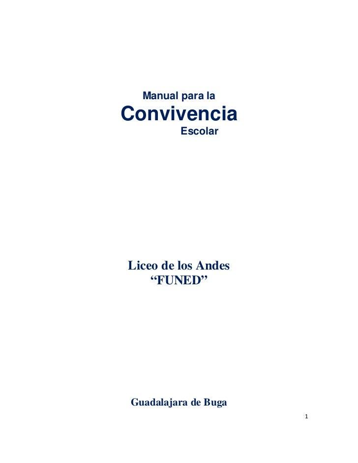 Manual de convivencia liceo de los andes funed