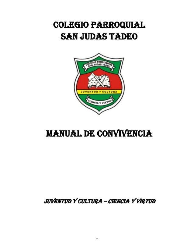 Manual de convivencia san judas 2014 1
