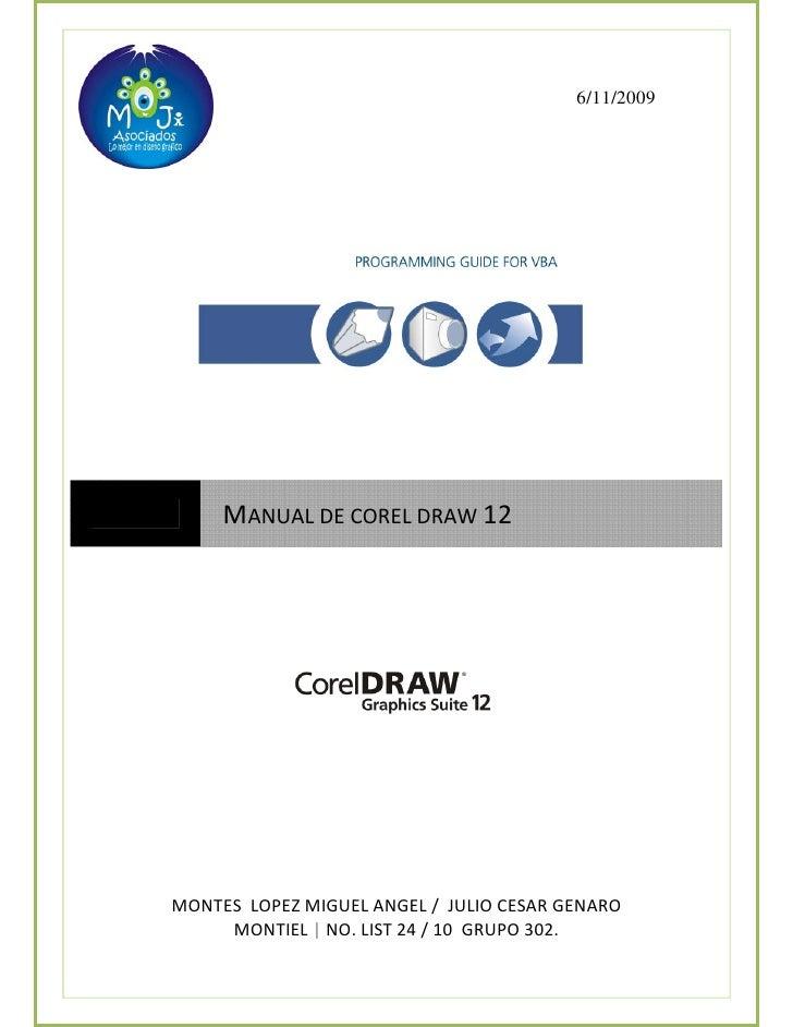 Manual De CorelDraw 12 x