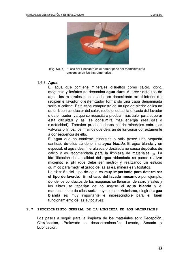 Manual de limpieza desinfeccin y esterilizacin de for Manual de limpieza y desinfeccion en restaurantes