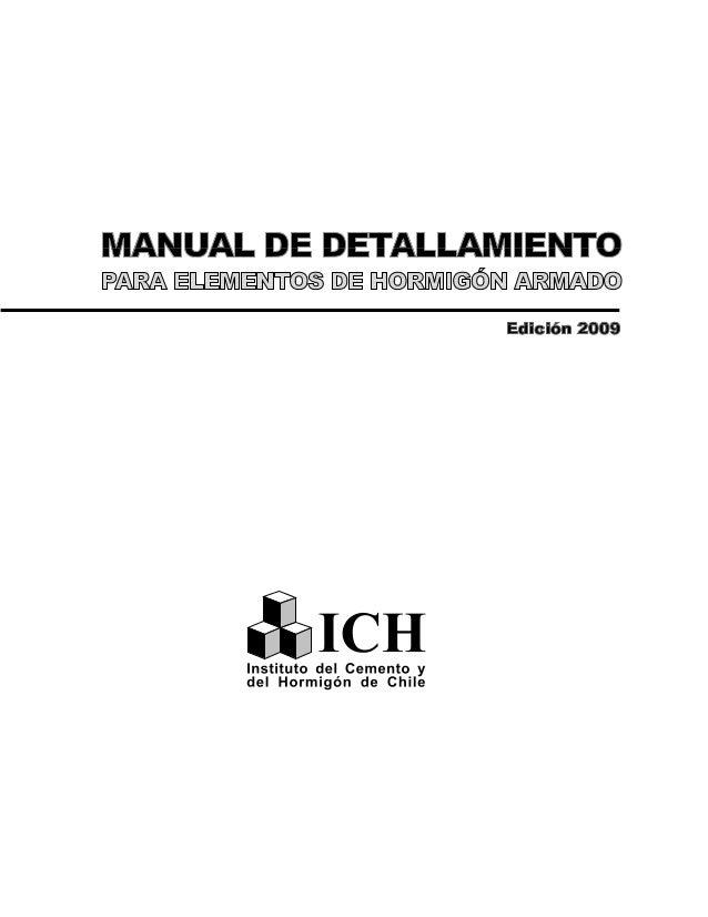 Manual de Detallamiento para Elementos de Hormigón Armado 1