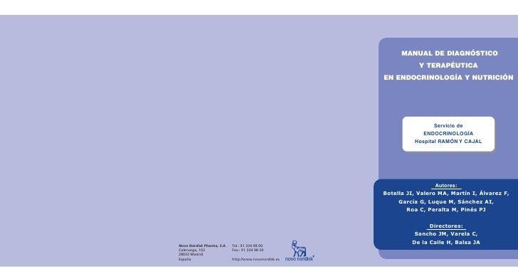 Manual de diagnostico y terapeutica en endocrinologia   ramon y cajal