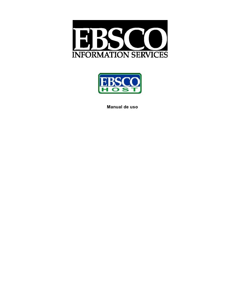 Manual de EBSCO