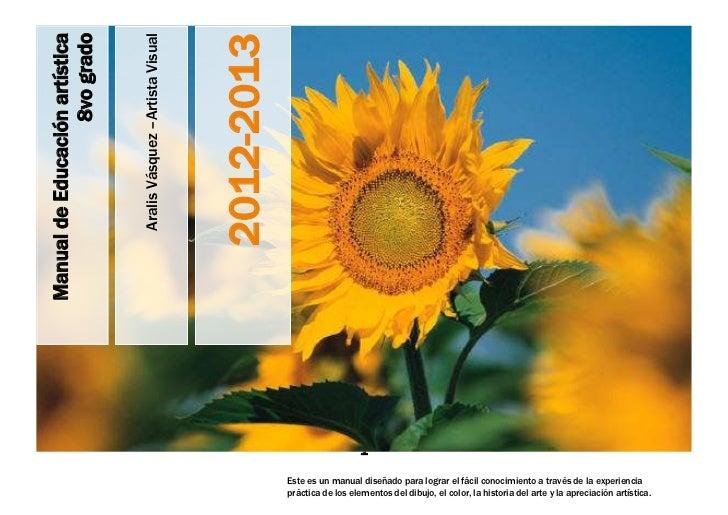 Manual de educacion artistica 8vo. grado