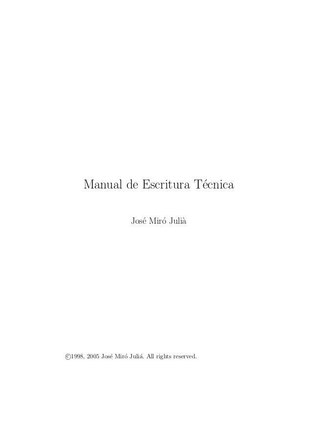 Manual de escritura técnica