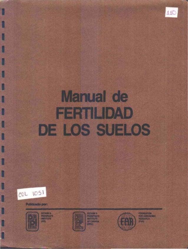 I  I  I  I  I  I  I  I  I  I  I  I  I  I  I  I  I  ¡-I  Order Form  Formularlo para Pedidos  SOIL FERTILlTV MANUAL - SPANI...