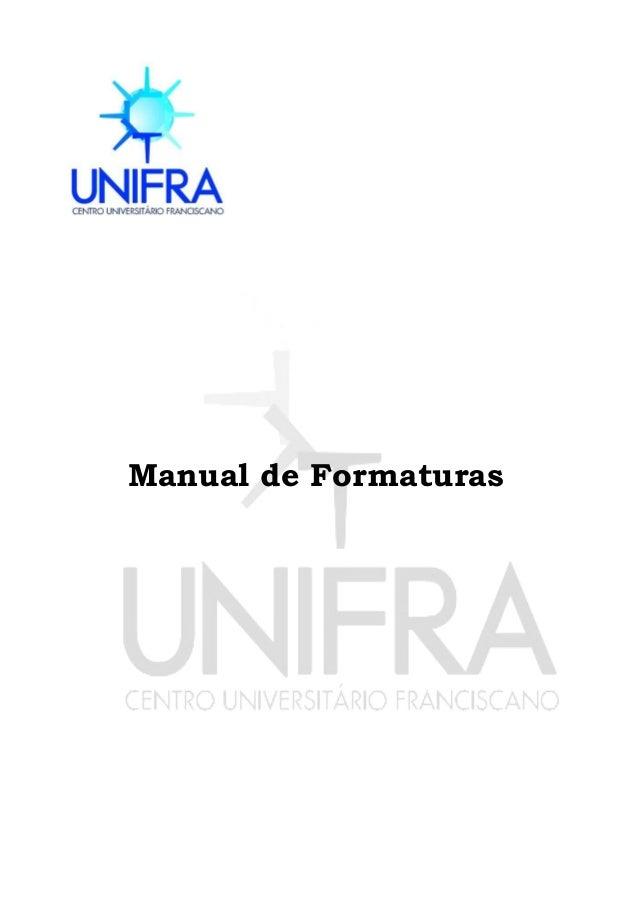 1 Manual de Formaturas