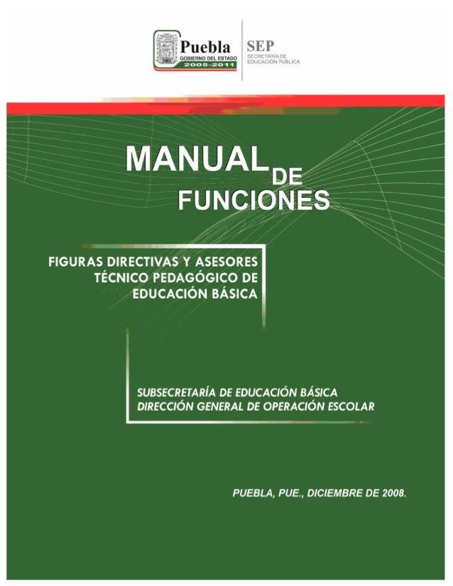 Manual de funciones jefe de sector supervisor director 2008 pdf