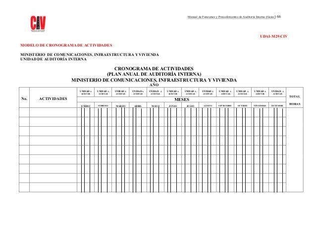 Manual de funciones y procedimientos de auditoria interna
