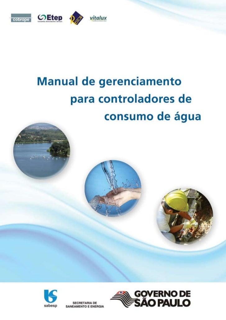 Manual de gerenciamento de consumo de água
