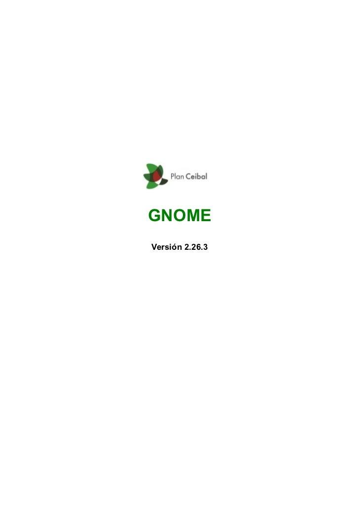 GNOMEVersión 2.26.3