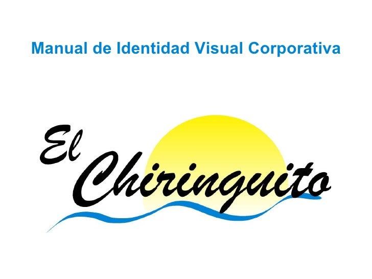 Manual De Identidad Visual Corporativa De El Chiringuito
