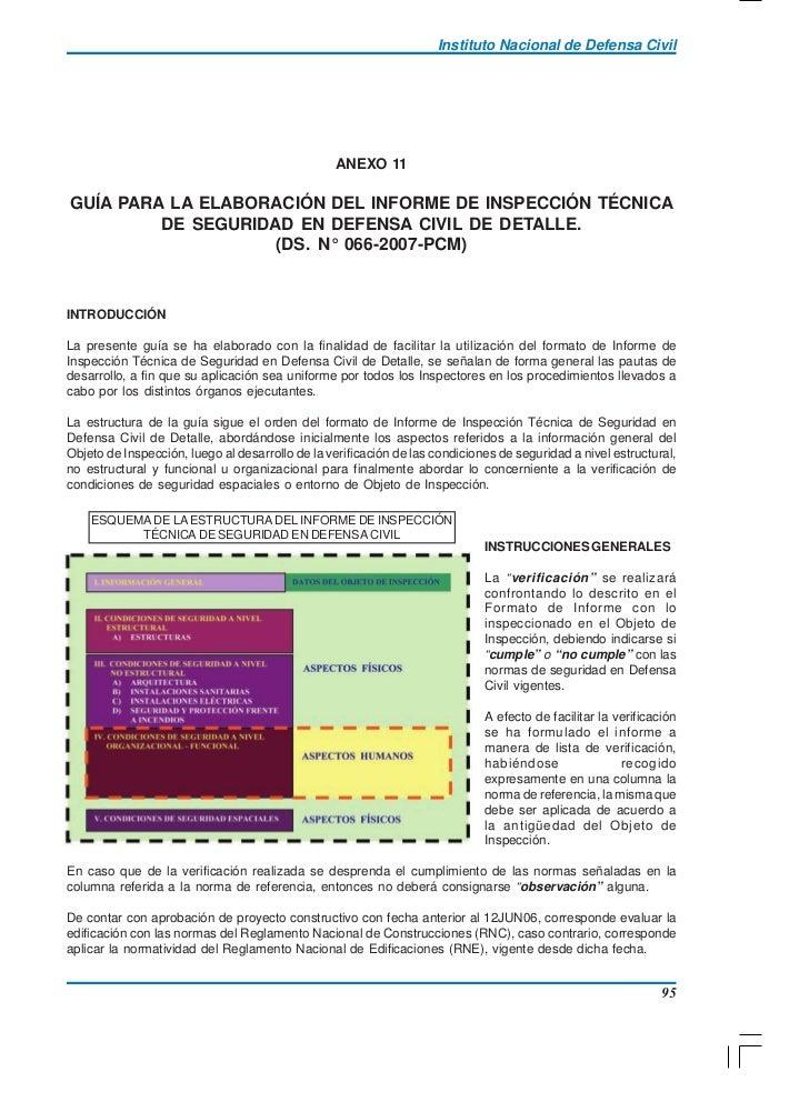 Instituto Nacional de Defensa Civil                                                 ANEXO 11GUÍA PARA LA ELABORACIÓN DEL I...