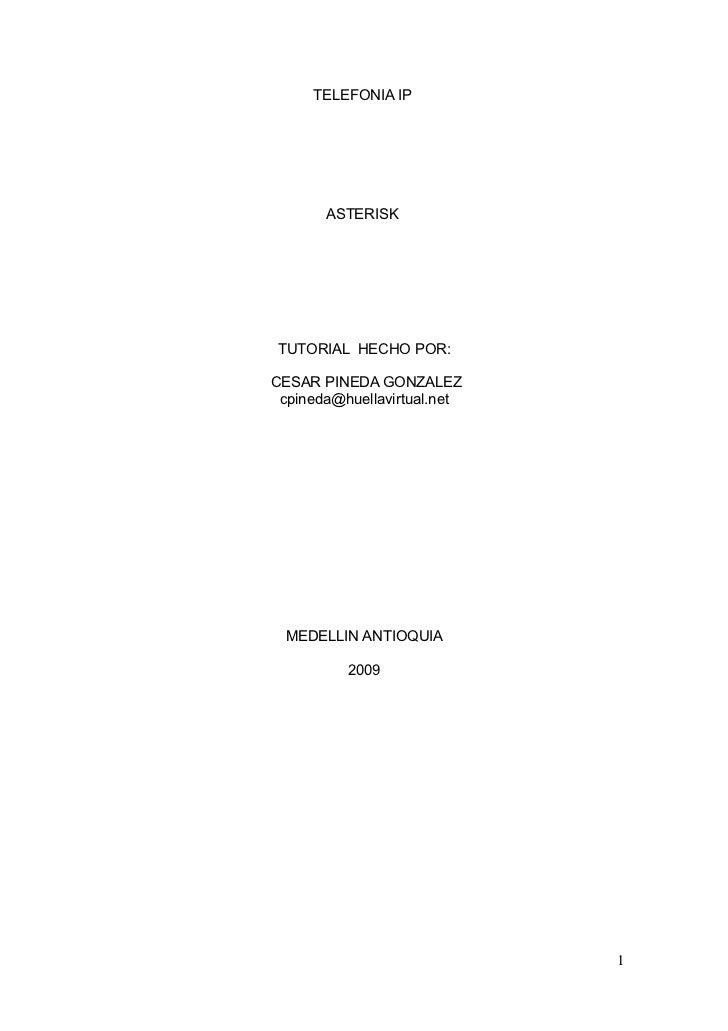 Manual De Instalacion De Asterisk