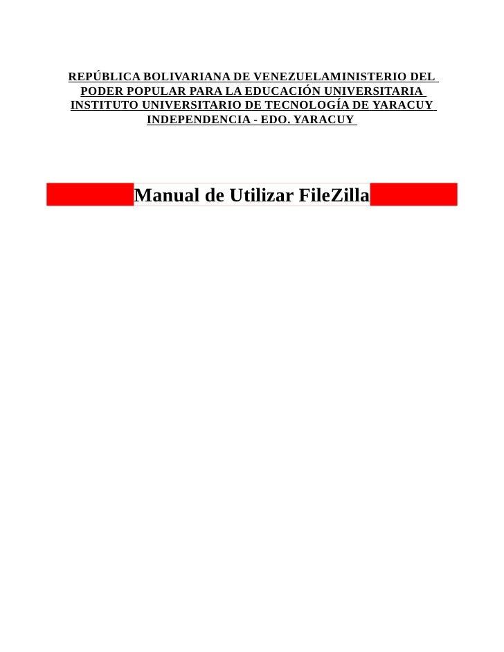 REPÚBLICA BOLIVARIANA DE VENEZUELAMINISTERIO DEL  PODER POPULAR PARA LA EDUCACIÓN UNIVERSITARIAINSTITUTO UNIVERSITARIO DE ...
