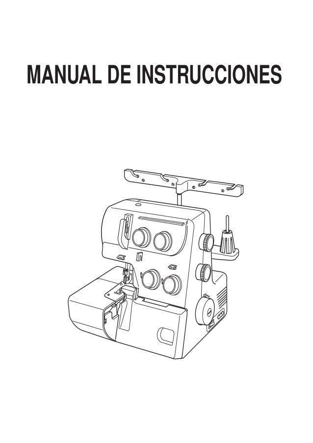Manual de instrucciones maquina 8002d janome maquina overlock