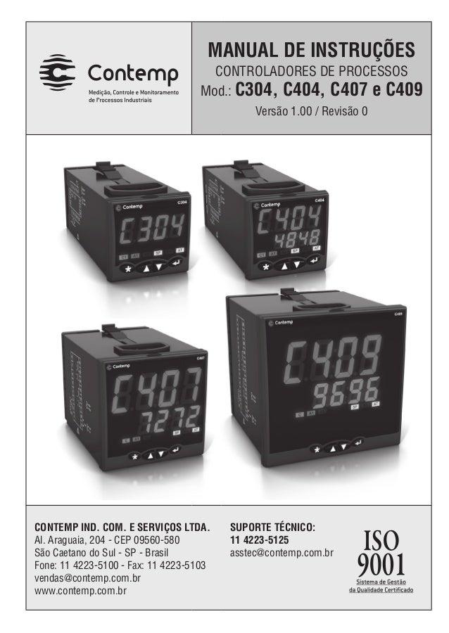 Manual de instruções referente ao Controlador de Temperatura Contemp mod.C304