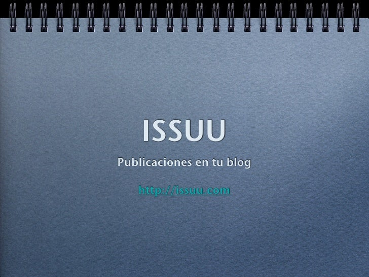 Manual de issuu en issuu