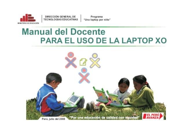 Manual del docente uso de la laptop XO