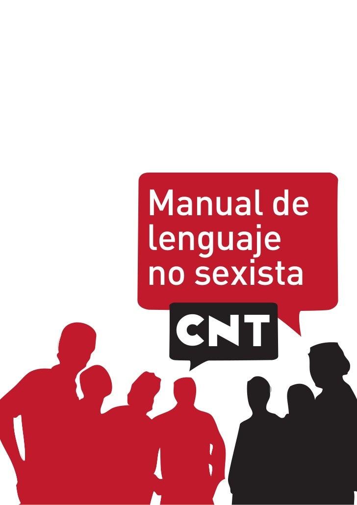 Manual delenguajeno sexista