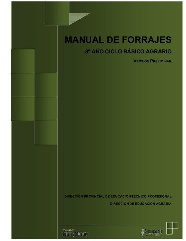Manual del forraje