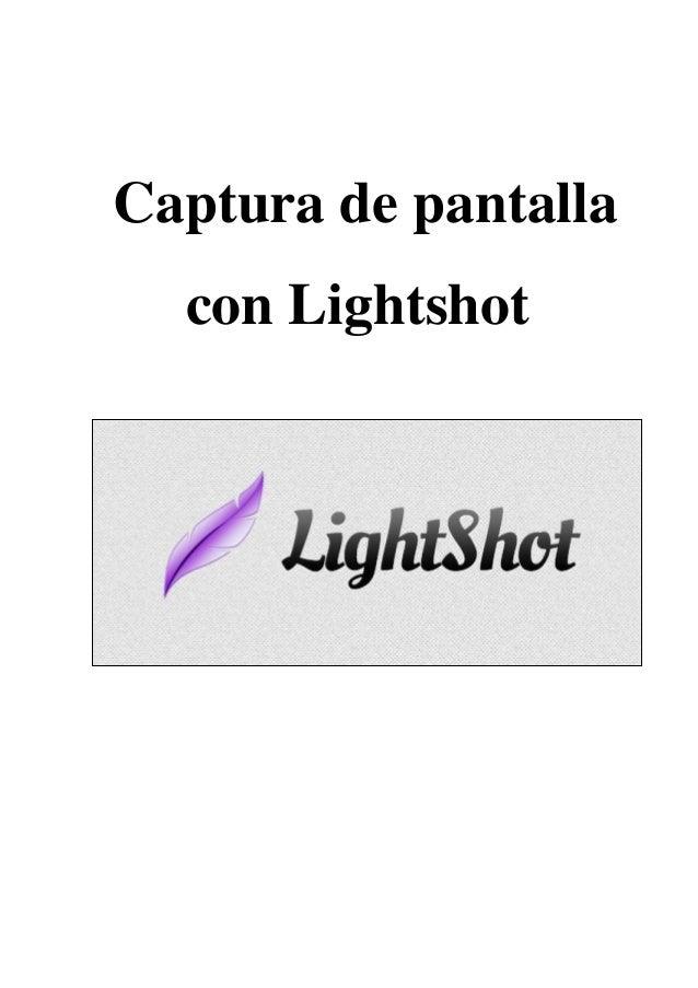 Captura de pantalla con Lightshot