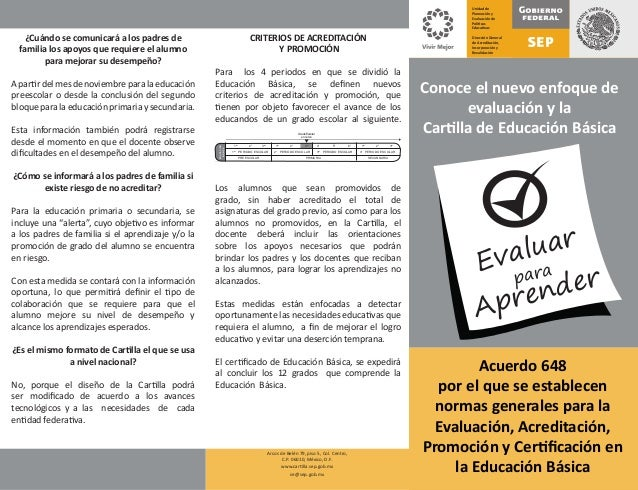 Manual de llenado de la cartilla de evaluación