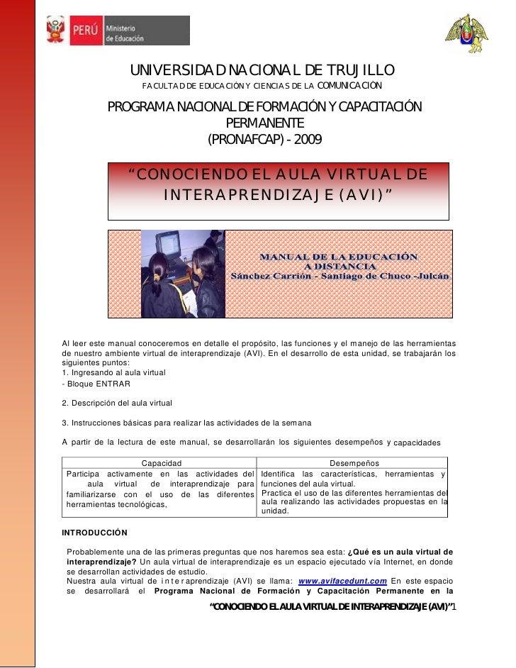 UNIVERSIDAD NACIONAL DE TRUJILLO                       FACULTAD DE EDUCACIÓN Y CIENCIAS DE LA COMUNICACIÓN              PR...