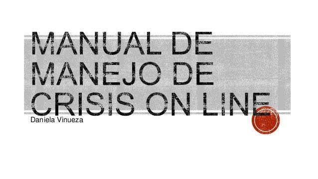 Manual para un manejo de crisis online