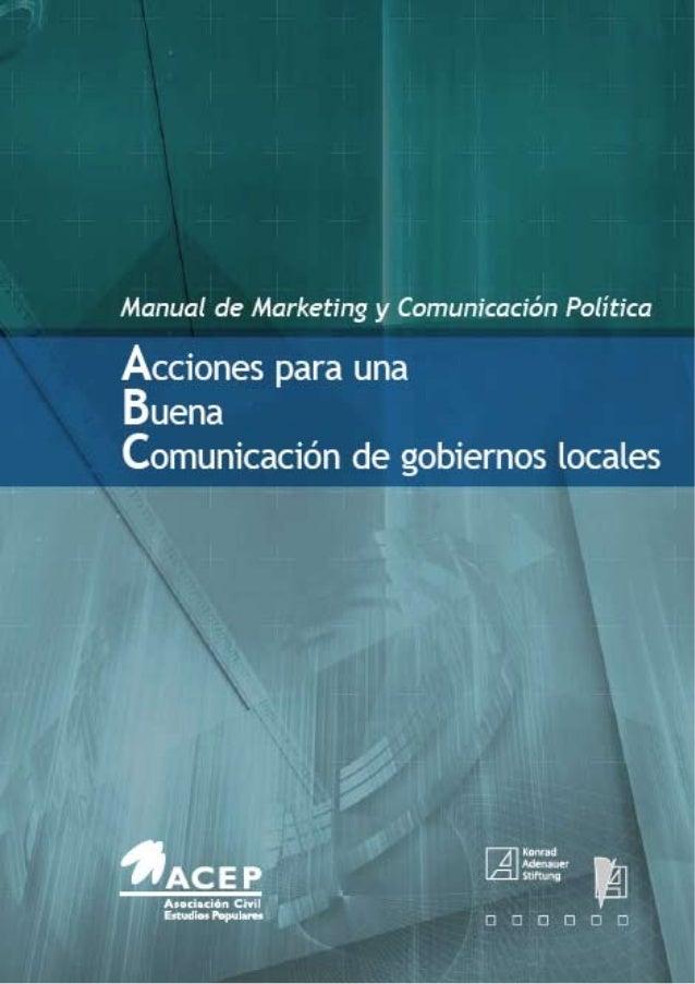 Korneli, Christoph Acciones para una Buena Comunicación de Gobiernos Locales: Manual de Marketing y Comunicación Política ...