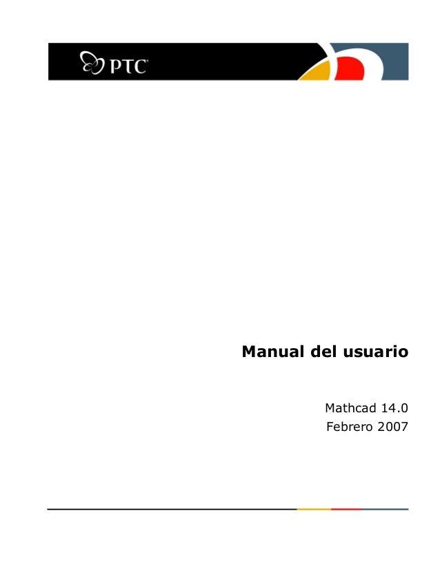 Manual de mathcad 14 en español