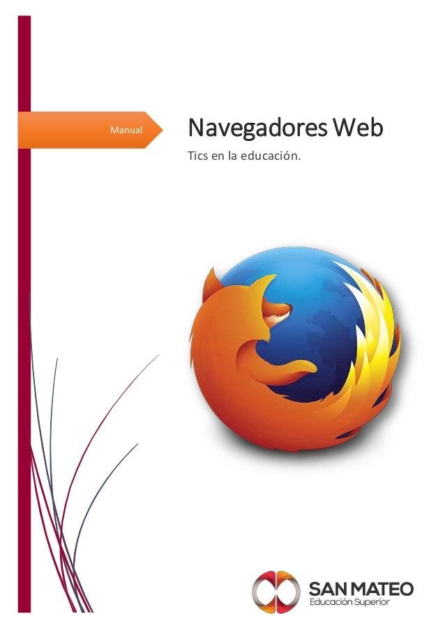 Manual Navegadores Web Tics en la educación.