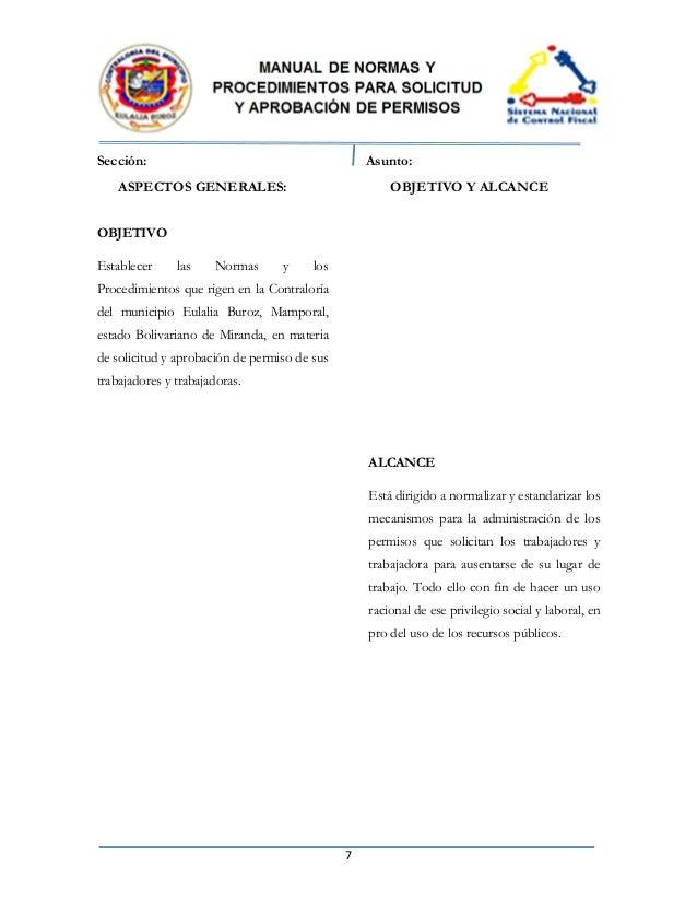 manual de normas y procedimientos para solicitud y aprobacion de perm