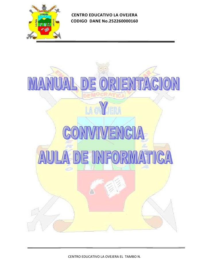 Manual de orientacion y convivencia aula de informatica