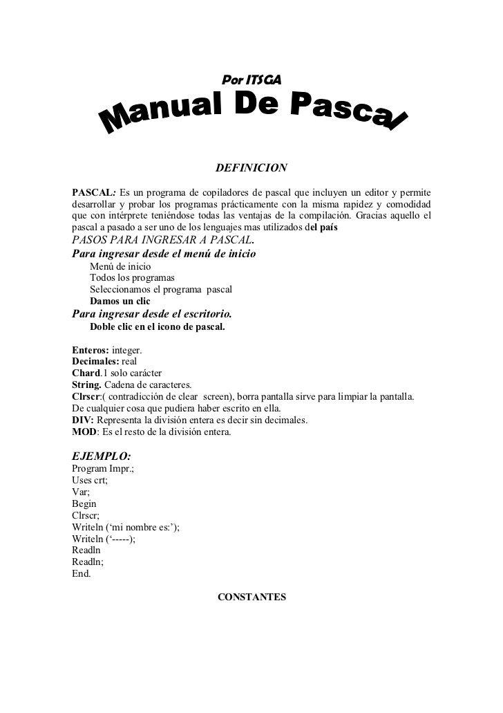 Manual Practico de Pascal