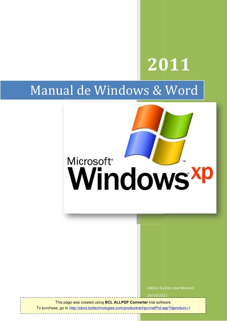 2011Manual de Windows & Word                                                                Ubillus Guillen José Manuel   ...