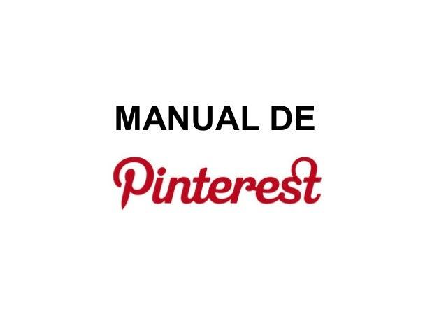 Manual de PINTEREST. maribel núñez
