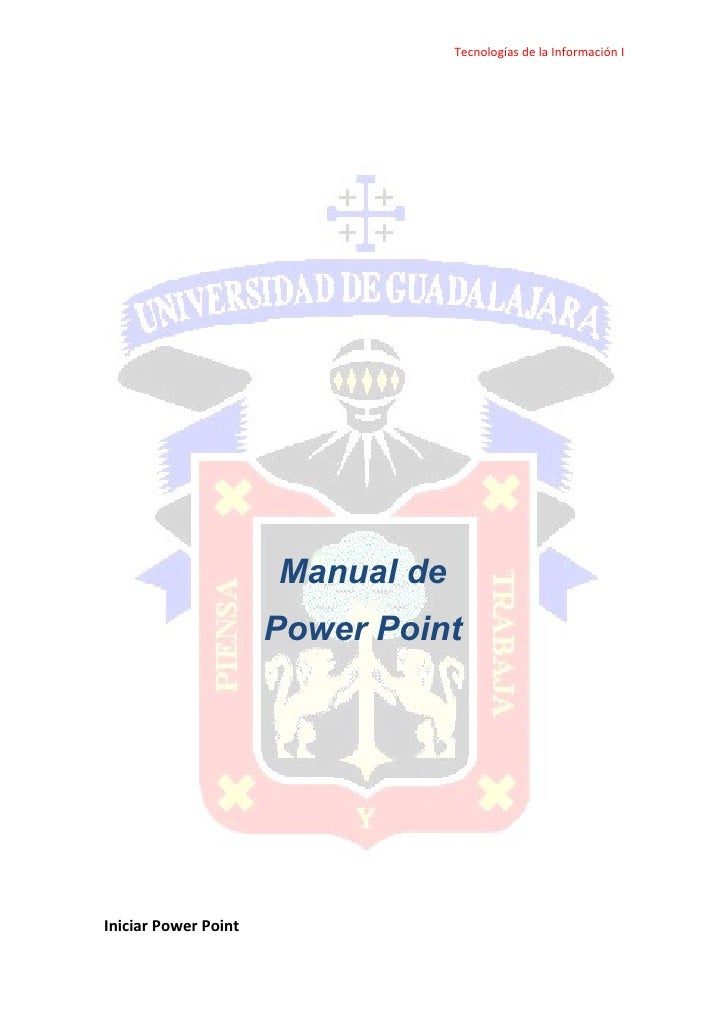 Tecnologías de la Información I                           Manual de                       Power Point     Iniciar Power Po...
