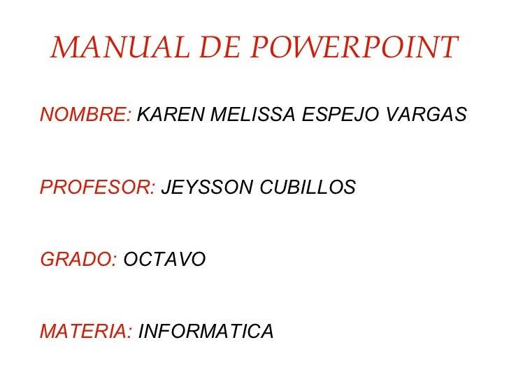 Manual de powerpoint melissa