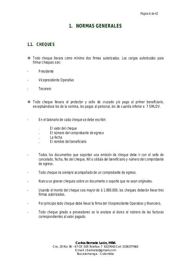 manual de procedimientos administrativos y operativos de tesoreria