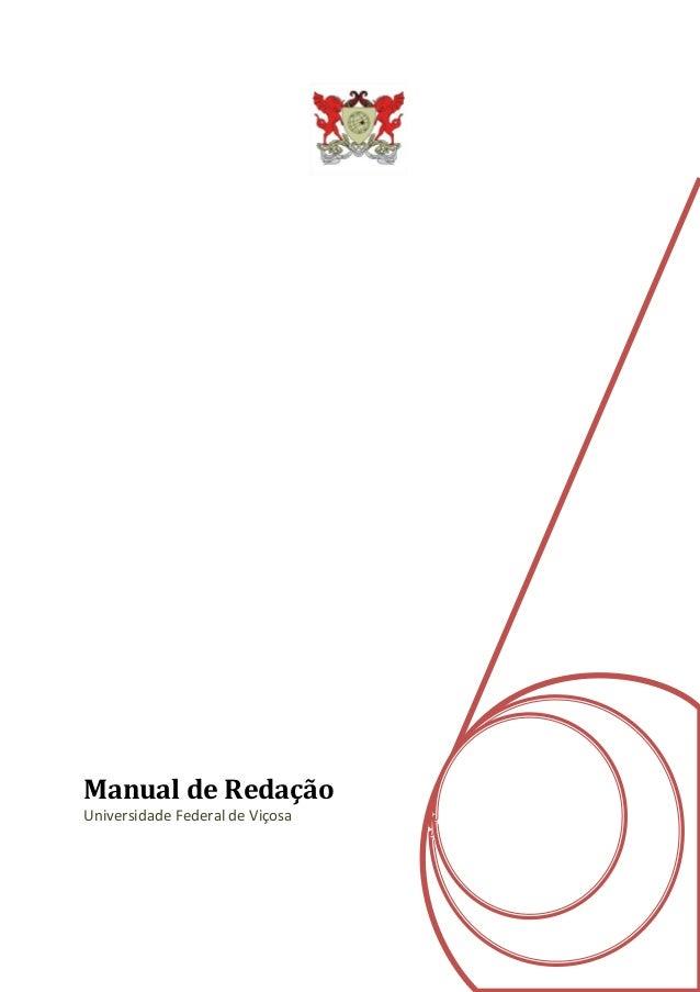 Manual de Redação Universidade Federal de Viçosa