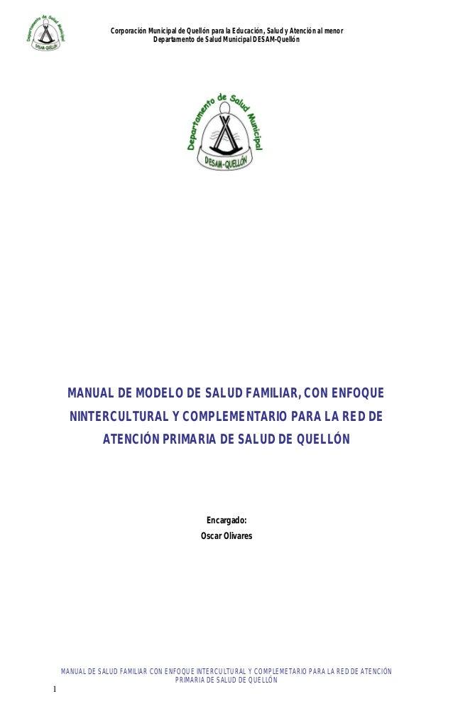 Corporación Municipal de Quellón para la Educación, Salud y Atención al menor Departamento de Salud Municipal DESAM-Quelló...
