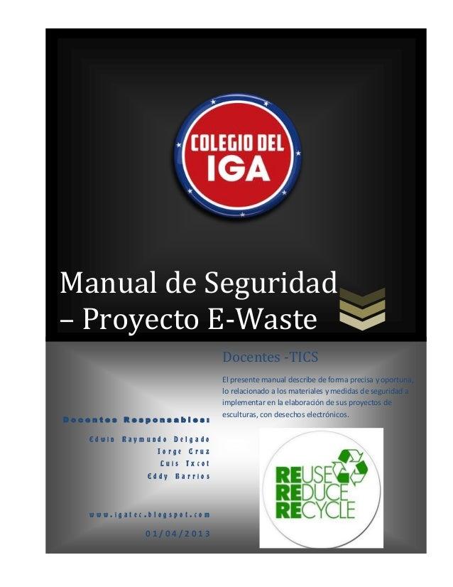 Manual de seguridad e waste con cronograma