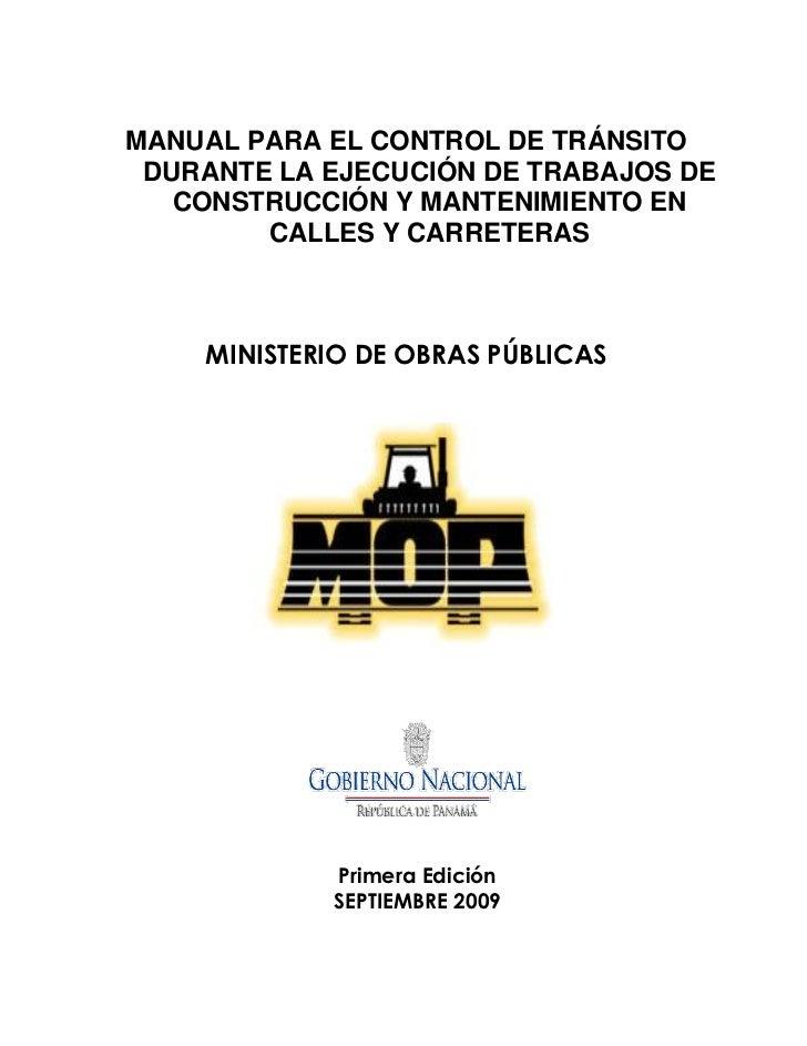 Manual de seguridad vial MOP
