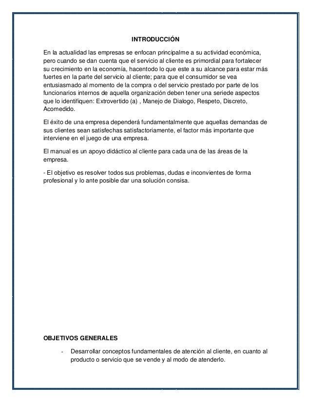 Manual de Atención al Cliente | miCliente