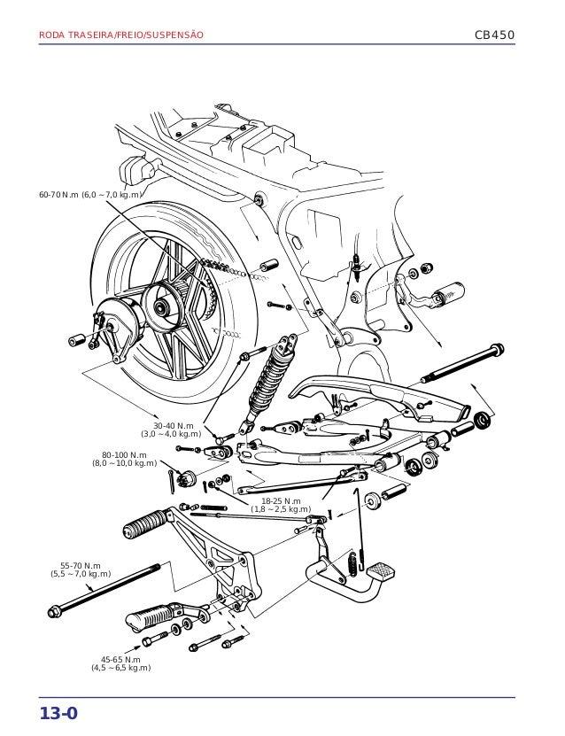 Manual de serviço cb450 rodatras